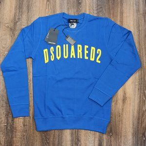 Dsquared2 Blue Cotton Sweatshirt , Men's , NWT